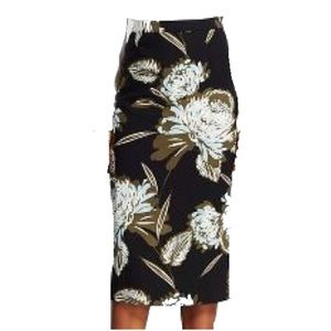 Who What Wear Floral Midi pencil Skirt